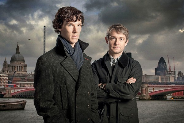 "Benedict Cumberbatch and Martin Freeman in ""Sherlock"""