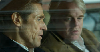 """Willem Dafoe and Philip Seymour Hoffman in """"A Most Wanted Man"""""""
