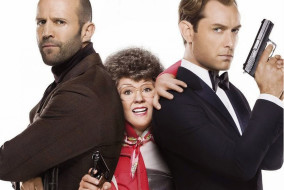 "Jason Statham, Melissa McCarthy and Jude Law in ""Spy"""