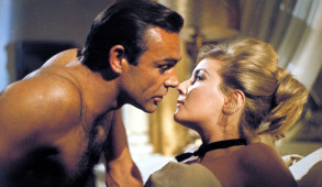"Sean Connery and Daniela Bianchi in ""From Russia with Love"""