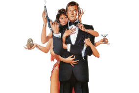 "Roger Moore and Maud Adams in ""Octopussy"""