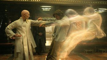 "Tilda Swinton and Benedict Cumberbatch in ""Doctor Strange"""