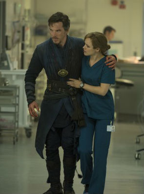 "Benedict Cumberbatch and Rachel McAdams in ""Doctor Strange"""