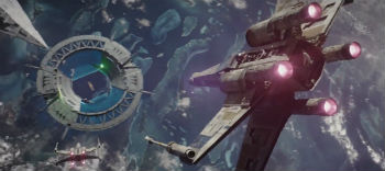 "Space battle in ""Rogue One"""