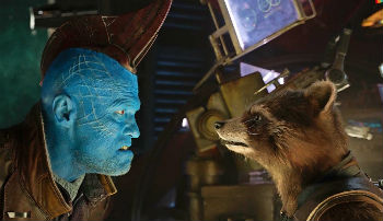 "Michael Rooker and Bradley Cooper in ""Guardians of the Galaxy Vol. 2"""