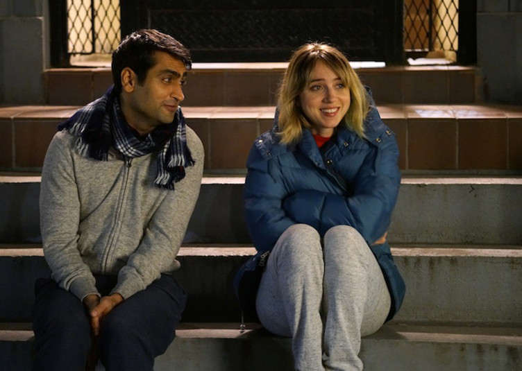 "Kumail Nanjiani and Zoe Kazan in ""The Big Sick"""
