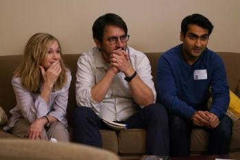 "Holly Hunter, Ray Romano and Kumail Nanjiani in ""The Big Sick"""